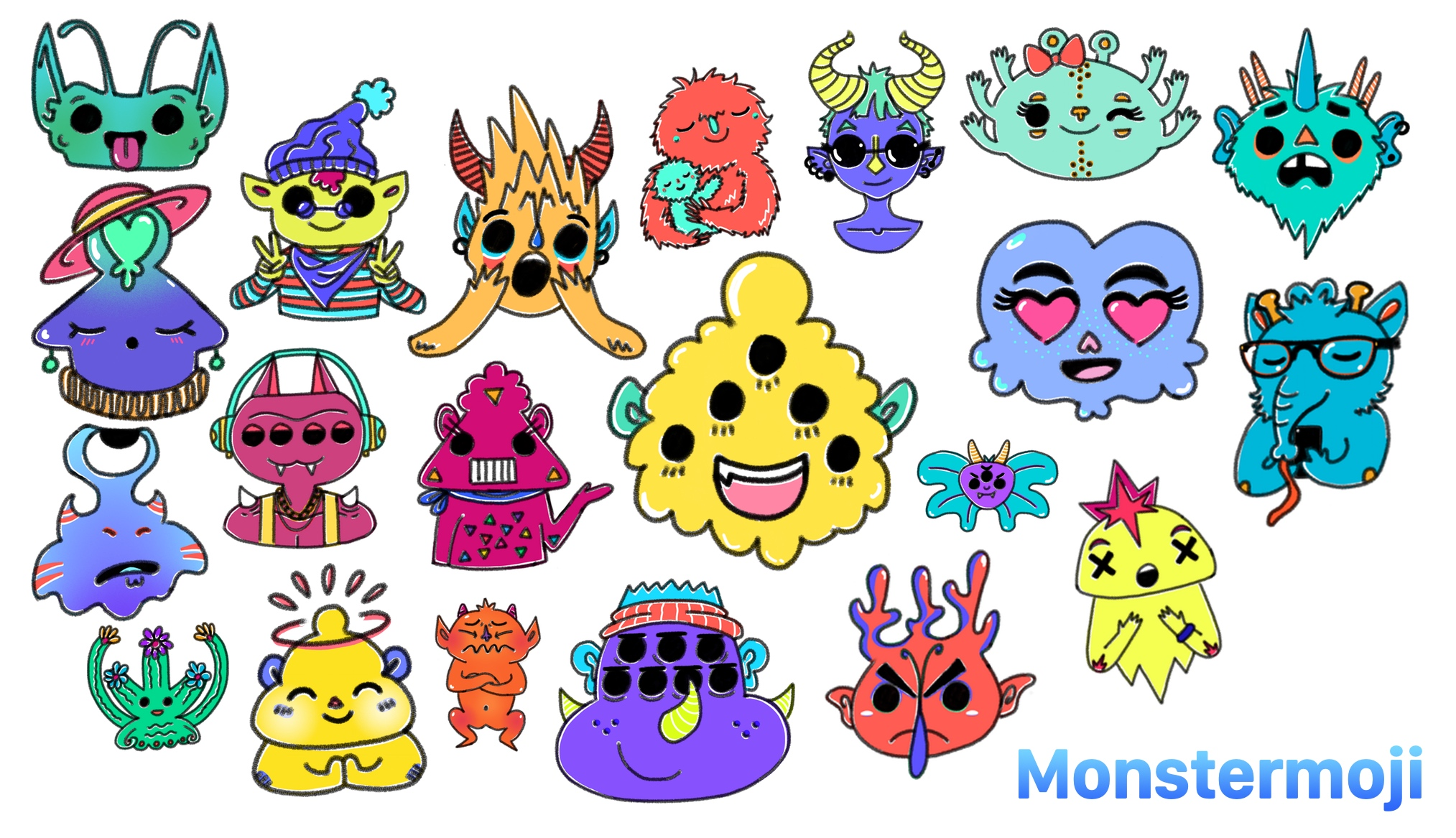 Download Monstermoji For IMessage Now 26 Beautiful Stickers Emotive Monsters Original Artwork
